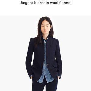 J Crew Regent Navy Wool Blazer